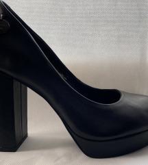 Tosca blu nove crne kožne cipele 38
