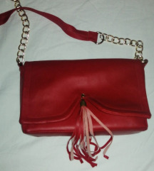 Hand made crvena torbica