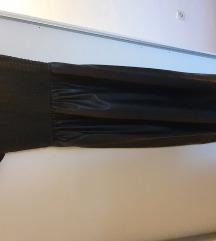 Zara kožna haljina
