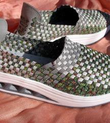 Zelene svjetlucave pletene tenisice 41