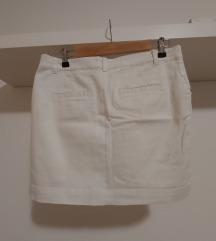 bijela mini suknjica 38