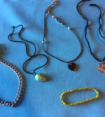 LOT ogrlica i zelena narukvica