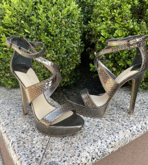 NINE WEST srebrne sandale