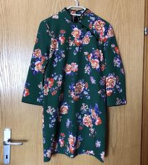 Zelena haljina s cvjetovima Zara