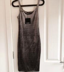 Zara plišana siva haljina