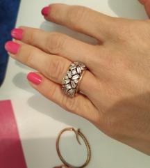 Prsten 925 rose gold