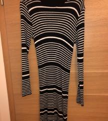crno bijela prugasta haljina