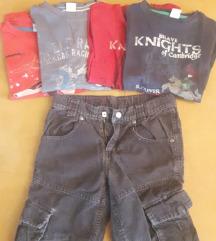 Majice i jedan par samt hlača za dečke 128/134
