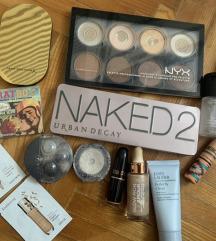Lot MAC nyx naked the balm shiseido