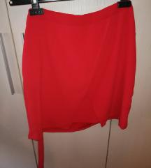 AMISU crvena suknja %%% SNIZENO