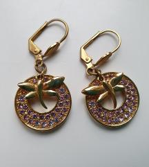 Zlatne naušnice s leptirima