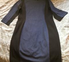 HM plavo crna haljina