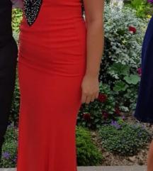 Duga crvena svečana haljina S/M