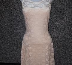krem haljina čipka xs/s