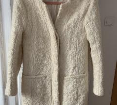 Zara cream bijeli vuneni kaput M