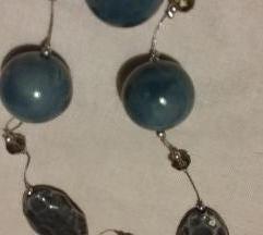 Dugačka siva ogrlica