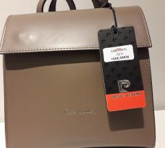 Piere Cardin kožni ruksak s etiketom
