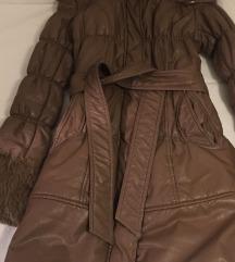 Zimska kožna jakna sa krznom / SNIŽENJE