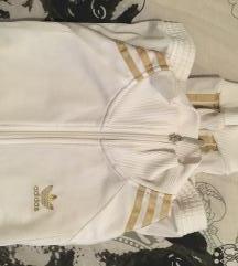 Adidas Originals bijela trenirka sa zlatnim