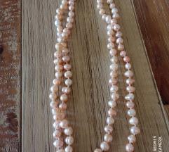 Biserna ogrlica rozi biseri duga