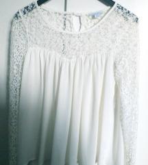 Bijela cipkana bluza xs