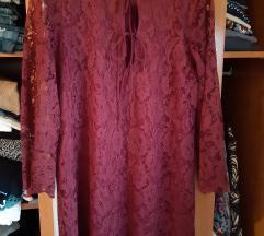 Bordo zara haljina