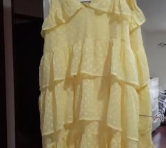 Limun zuta Asos haljjna na volane%