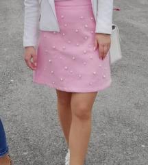 Roza suknjica s biserima