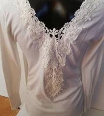 Bijela majica sa čipkom, S/M svi artikli 39kn