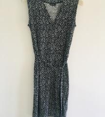 Midi wrap točkasta haljina vel S