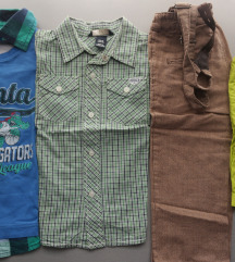 92 ljetni lot za dečke - košulja, majica, hlače
