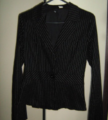 Crni sako na prugice, H&M, 36