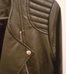 Mango crna kožna jakna