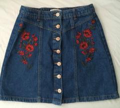 Stradivarius jeans mini suknja