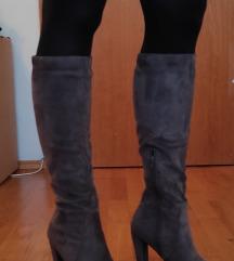 Čizme visoke sive