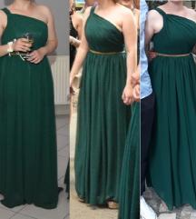 smaragdno zelena svečana haljina