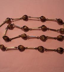 Vintage staklena ogrlica