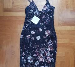 Nova Missguided čipkasta cvjetna haljina