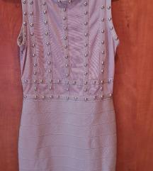 Roza uska haljina