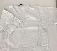 Bijela lanena bluza