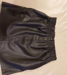 Zara kozna crna suknja