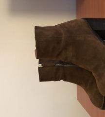 Čizme brušena koža