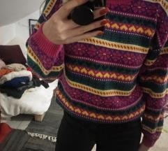Šareni pulover dolčevita