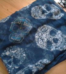 Plava marama s lubanjama