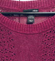 H&M vestica -laneno pletivo