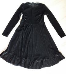 Crna midi haljina %70 kn%