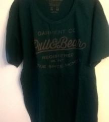 Pull&Bear tamnozelena majica
