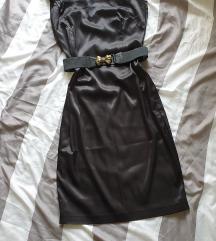 Crna haljina s remenom  M,L