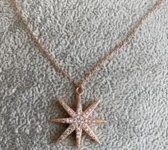 Native Gem 14k rozo zlato ogrlica