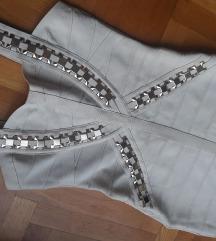 Champagne bandage haljina